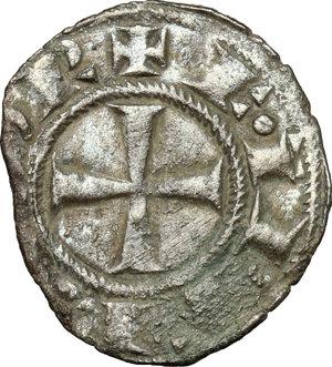 obverse: Messina.  Federico II (1197-1250). Denaro