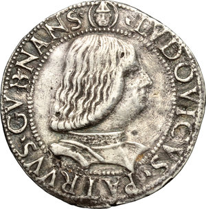 obverse: Milano.  Gian Galeazzo Maria e Ludovico Maria Sforza (1481-1494). Testone
