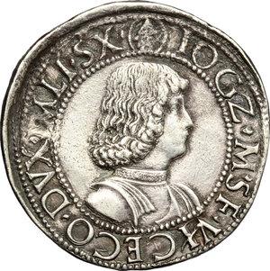 reverse: Milano.  Gian Galeazzo Maria e Ludovico Maria Sforza (1481-1494). Testone