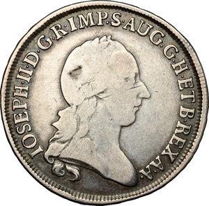 obverse: Milano.  Giuseppe II d Asburgo-Lorena (1780-1790) Imperatore d Austria e Duca di Milano e Mantova. Mezzo scudo 1784