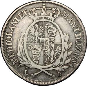 reverse: Milano.  Giuseppe II d Asburgo-Lorena (1780-1790) Imperatore d Austria e Duca di Milano e Mantova. Mezzo scudo 1784