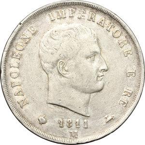 obverse: Milano.  Napoleone I (1805-1814).. 5 lire 1811
