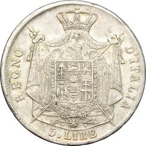 reverse: Milano.  Napoleone I (1805-1814).. 5 lire 1811