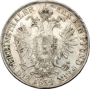 reverse: Milano.  Francesco Giuseppe I (1848-1866). Tallero 1859