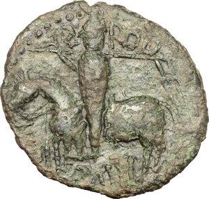 obverse: Mileto.  Ruggero I  (1072-1101) . Trifollaro