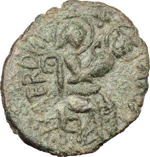reverse: Mileto.  Ruggero I  (1072-1101) . Trifollaro