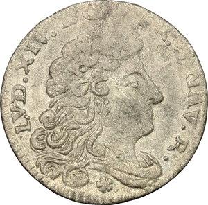 obverse: Modena.  Luigi XIV re di Francia (1702-1706). Giorgino 1704 (data retrograda)