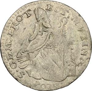 reverse: Modena.  Luigi XIV re di Francia (1702-1706). Giorgino 1704 (data retrograda)