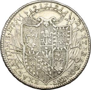 reverse: Modena.  Ercole III d Este (1780-1796). Tallero 1796