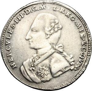 obverse: Modena.  Ercole III d Este (1780-1796). Scudo 1782