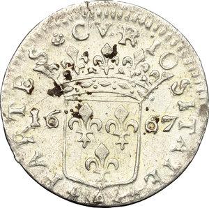 reverse: Monaco.  Ludovico I Grimaldi (1662-1701). Luigino 1667