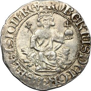 reverse: Napoli.  Roberto d Angiò (1309-1343). Gigliato