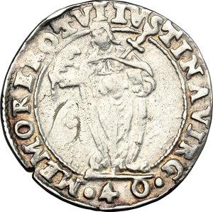reverse: Venezia.  Alvise I Mocenigo (1570-1577). 40 soldi con Santa Giustina, sigla Z L