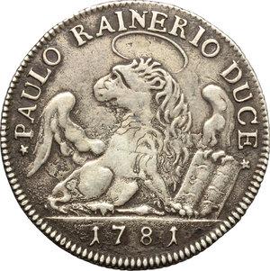 reverse: Venezia.  Paolo Renier (1779-1789).. Ottavo di tallero per il Levante 1781