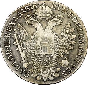 reverse: Venezia.  Francesco I d Asburgo e Lorena (1815-1835). Mezzo tallero 1818