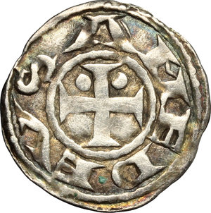 obverse: Amedeo III (1103-1148). Denaro secusino, Susa