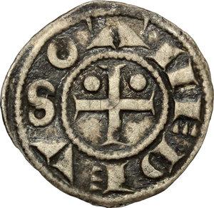 obverse: Amedeo III (1103-1148). Denaro secusino, I tipo. Susa