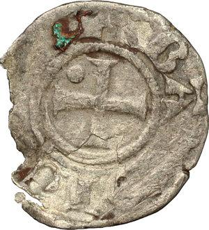 obverse: Amedeo IV (1232-1253). Denaro debole, II tipo