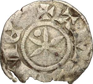 reverse: Amedeo IV (1232-1253). Denaro debole, II tipo