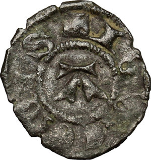 reverse: Aimone (1329-1343).. Obolo con scudetto