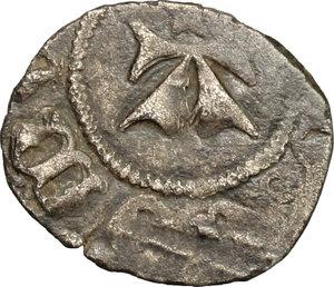 reverse: Amedeo VI (1343-1383), il Conte Verde.. Denaro viennese I tipo
