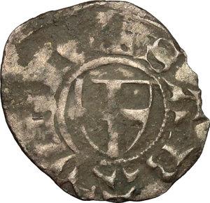 obverse: Amedeo VI (1343-1383).. Denaro viennese, I tipo, Chambery o Pont d Ain