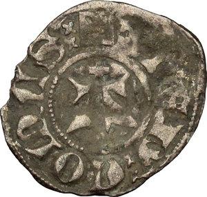 reverse: Amedeo VI (1343-1383).. Denaro viennese, I tipo, Chambery o Pont d Ain