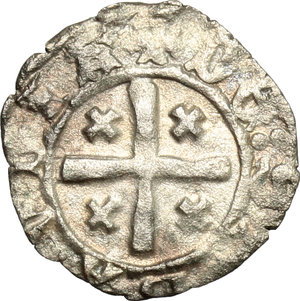 reverse: Amedeo VIII (1416-1440).. Obolo di bianchetto. Nyon