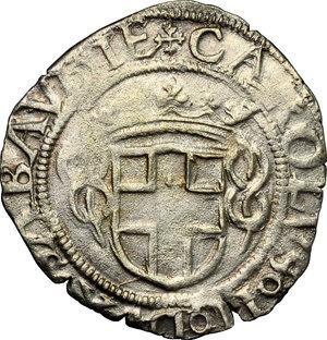 obverse: Carlo II (1504-1553).. Grosso 1553, Aosta
