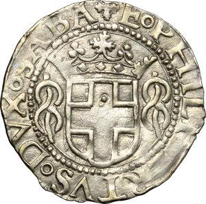 obverse: Emanuele Filiberto Duca (1559-1580).. Grosso 1556, I tipo