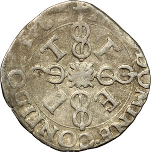 reverse: Emanuele Filiberto Duca (1559-1580).. Soldo 1576, III tipo. Torino
