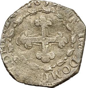 reverse: Carlo Emanuele II sotto la reggenza della madre (1638-1648). 4 soldi 1639, Torino