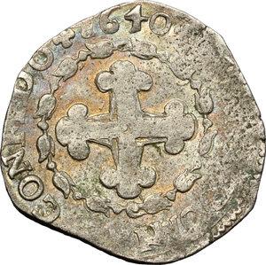 reverse: Carlo Emanuele II (1638-1675). 4 soldi 1640. Torino