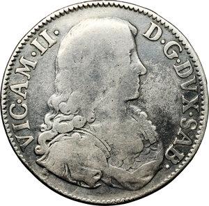 obverse: Vittorio Amedeo II (1680-1713).. 1/2 scudo bianco 1680. Torino