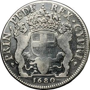 reverse: Vittorio Amedeo II (1680-1713).. 1/2 scudo bianco 1680. Torino