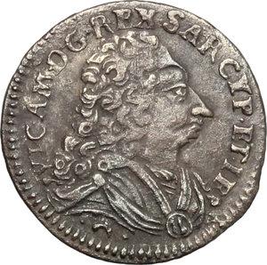 obverse: Vittorio Amedeo II (1680-1730).. Mezzo reale sardo 1727, Torino