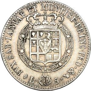 reverse: Vittorio Emanuele I (1802-1821).. 5 lire 1820