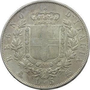 reverse: Vittorio Emanuele II (1861-1878). Lotto di 2 monete da 5 lire 1870 Milano e Roma