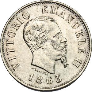 obverse: Vittorio Emanuele II  (1861-1878).. 50 centesimi 1863 M