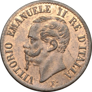 obverse: Vittorio Emanuele II  (1861-1878). Centesimo 1861 N