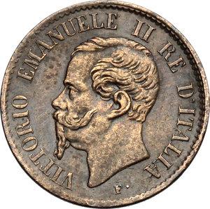 obverse: Vittorio Emanuele II  (1861-1878).. Centesimo 1867 T
