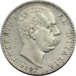 obverse: Umberto I (1878-1900). 2 lire 1897