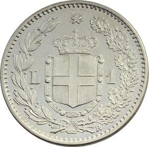 reverse: Umberto I (1878-1900). Lira 1884