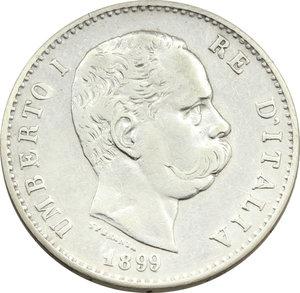 obverse: Umberto I (1878-1900). Lira 1899 (99 ravvicinati)