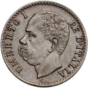obverse: Umberto I (1878-1900).. Centesimo 1897
