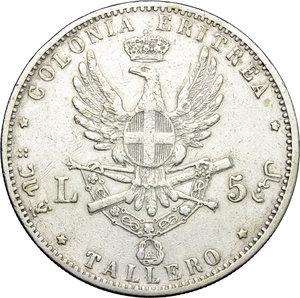 reverse: Umberto I (1878-1900).. Tallero 1891