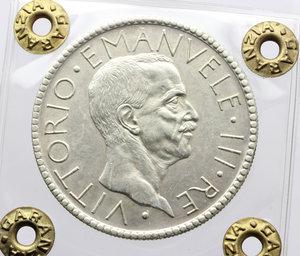 obverse: Vittorio Emanuele III (1900-1943). 20 lire 1928