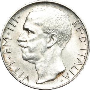 obverse: Vittorio Emanuele III (1900-1943). 10 lire 1927