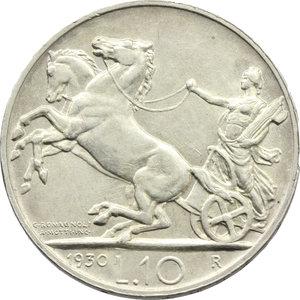 reverse: Vittorio Emanuele III (1900-1943). 10 lire 1930
