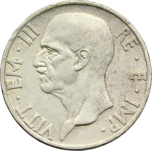 obverse: Vittorio Emanuele III (1900-1943). 5 lire 1936